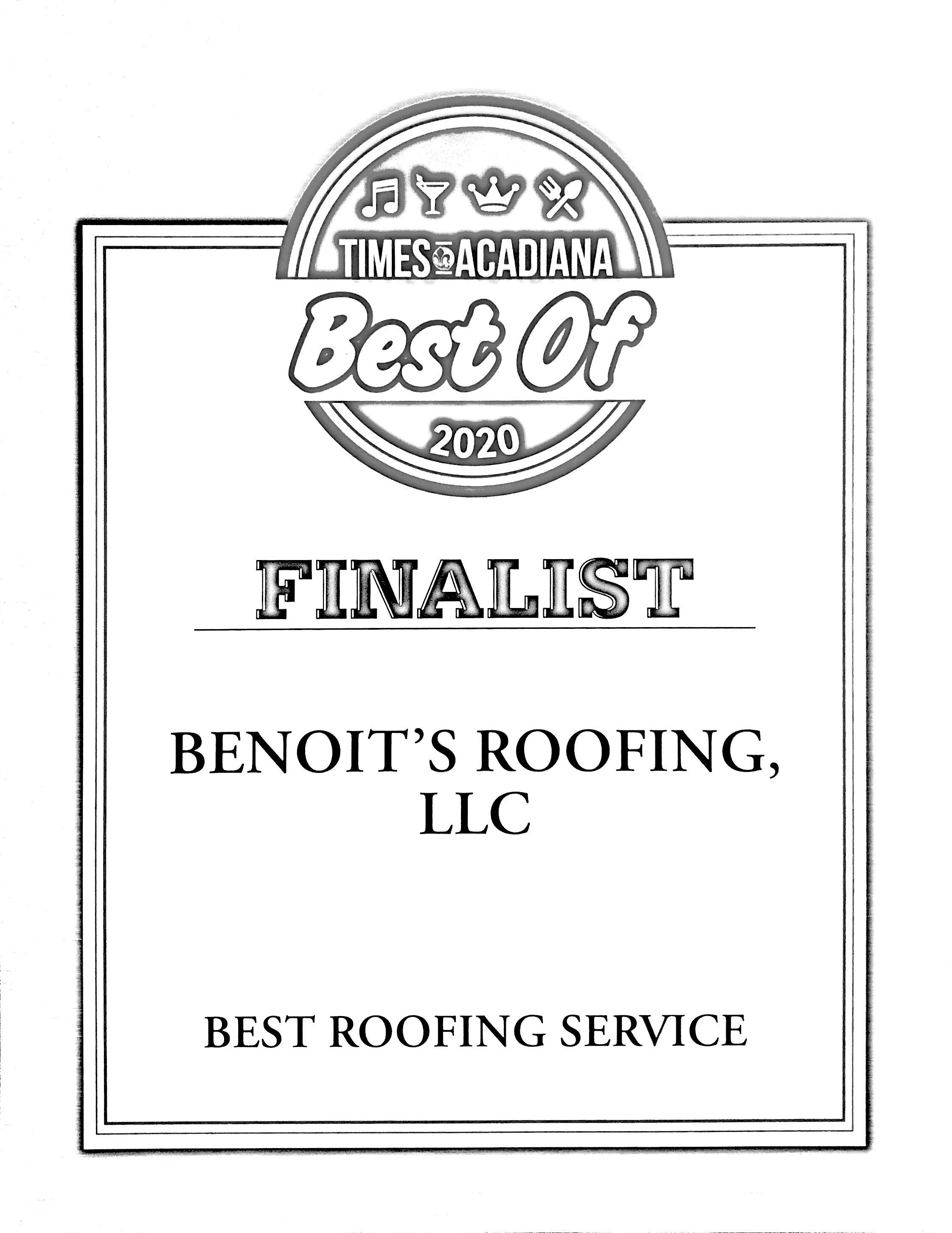 Voted Best Roofer